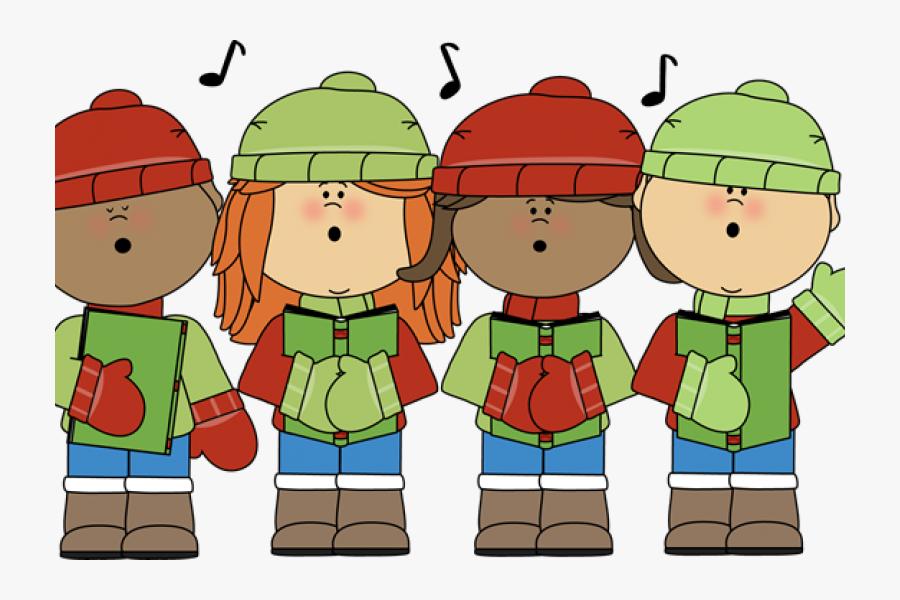 Children Caroling , Free Transparent Clipart.