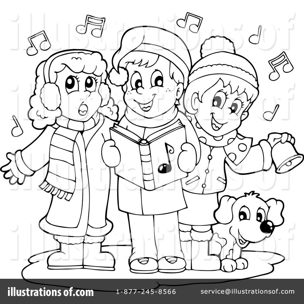 Free Clipart Christmas Caroling.
