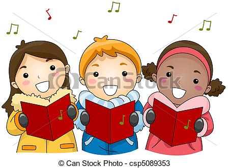 Christmas Caroling Clipart Free.