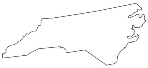 North carolina clipart map.