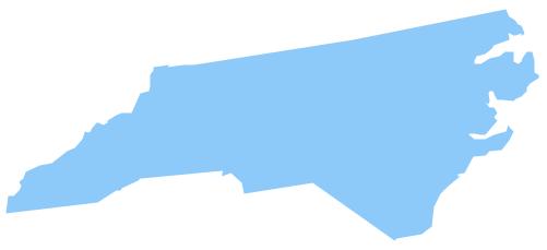 Map of north carolina clipart.