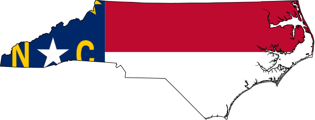 North carolina clipart map.