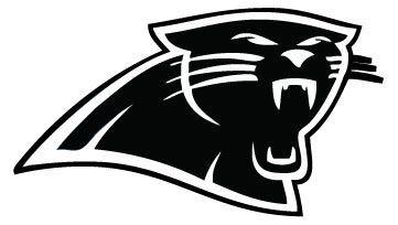 Carolina Panthers vinyl decals.