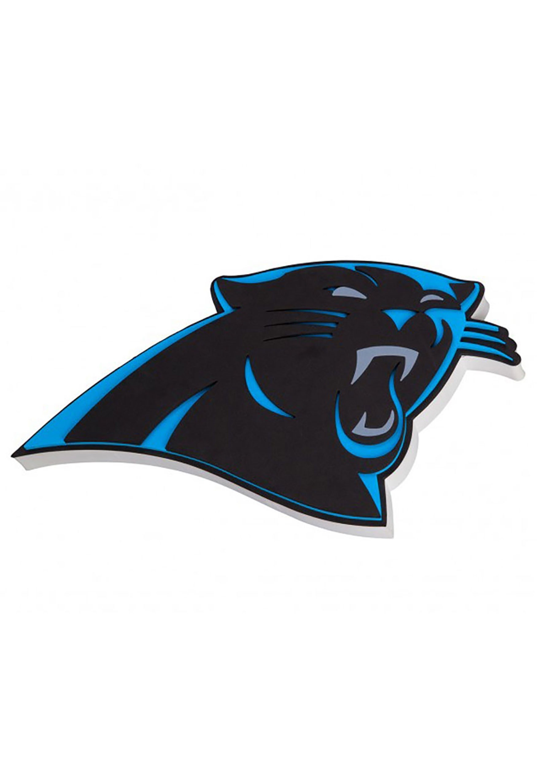 NFL Carolina Panthers Logo Foam Sign.