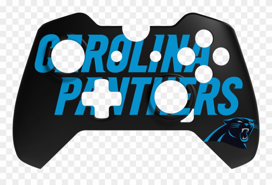 Nfl Face Off Carolina Panthers Basic Face Plate Png Clipart.