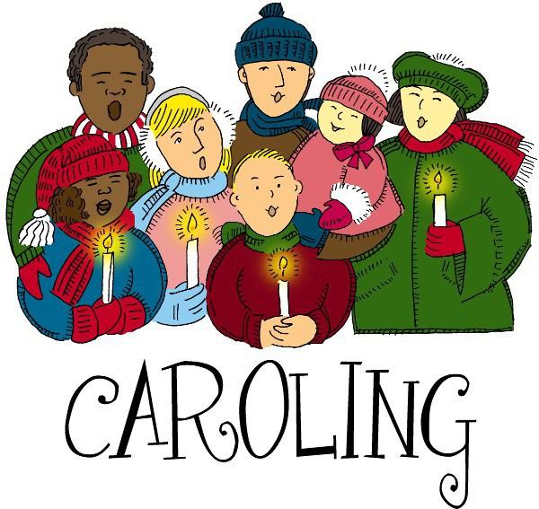 Caroling clipart carols by candlelight, Caroling carols by.