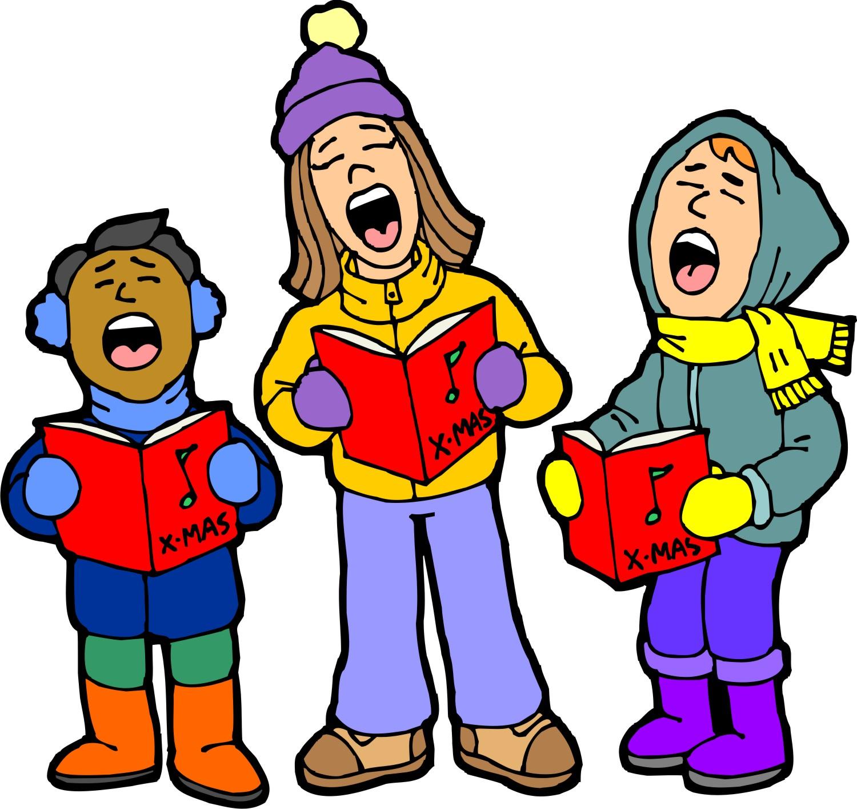 Caroling clipart performance, Caroling performance.