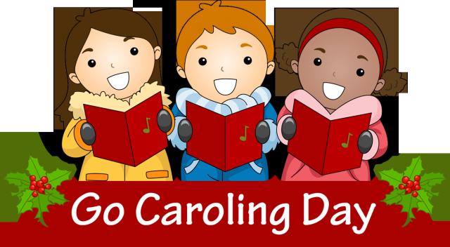 Clip Art for Cele3brate Caroling Day 2014.