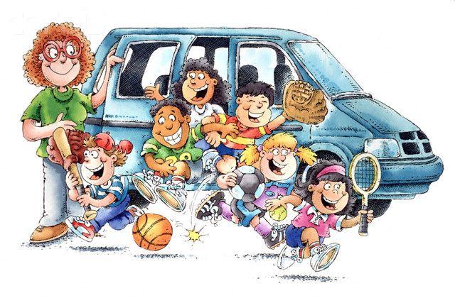 school carpool clipart.