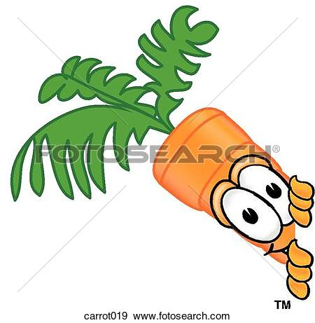 Clip Art of Carrot With Sign carrot012.