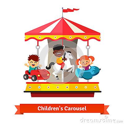 Carousel Car Entertainment Park Stock Photos, Images, & Pictures.