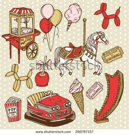 Hand Drawn Carousel Horse Polka Dot Stock Vector 251846164.