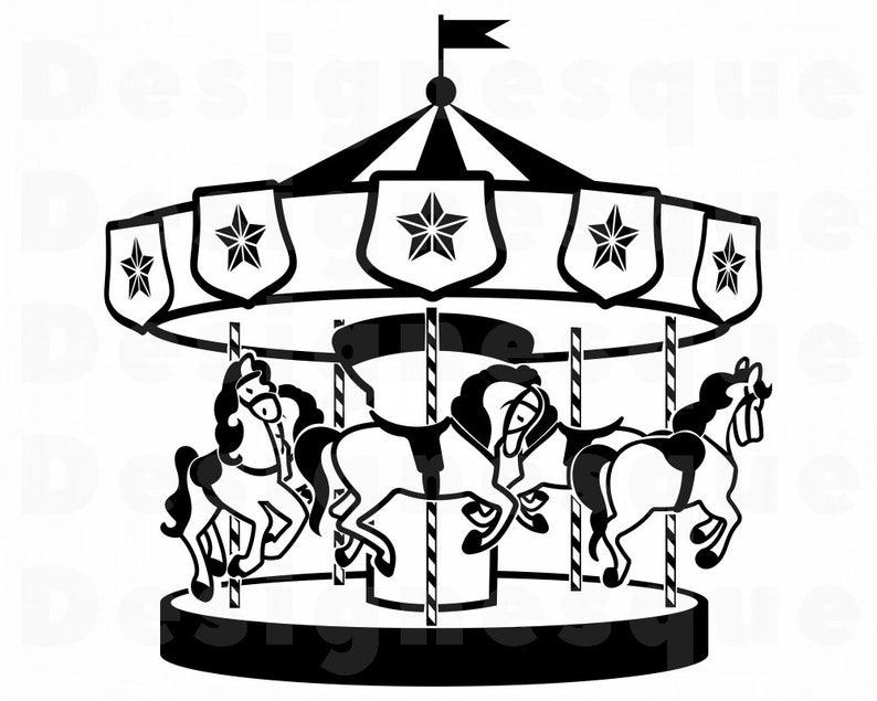 Carousel SVG, Fair Svg, Carousel Clipart, Carousel Files for Cricut,  Carousel Cut Files For Silhouette, Carousel Dxf, Fair Png, Eps, Vector.