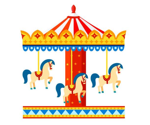 Best Carousel Illustrations, Royalty.