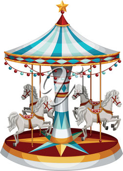 Clipart Illustration of a Carousel.