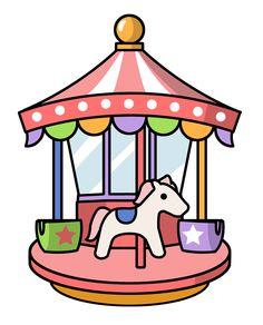 Animated carousel clipart.