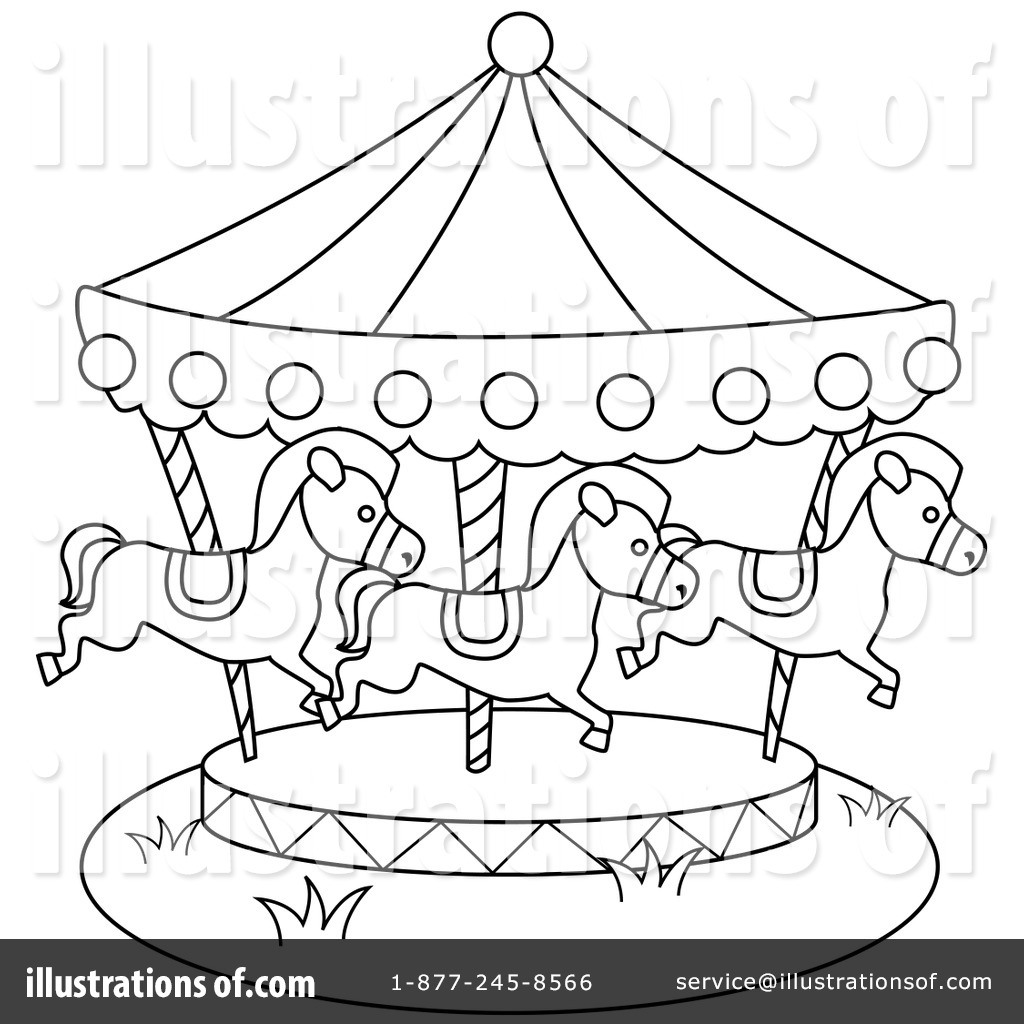 913 Carousel free clipart.