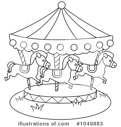 Carousel clipart black and white, Carousel black and white.