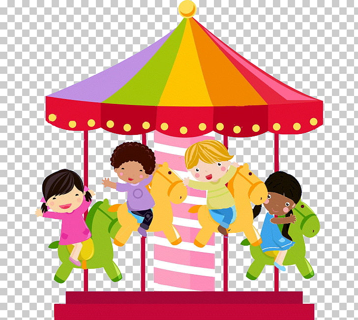 Carousel , merry go round, carousel illustration PNG clipart.