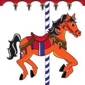 Free clip art carousel horse.