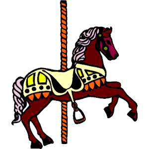 Carousel horse clipart free.