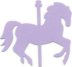 Carousel horse silhouette clipart vector.