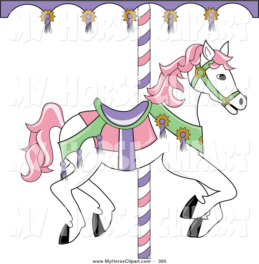 Free carousel horse clipart.