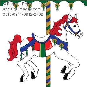 Clip Art Illustration of a Carousel Horse.