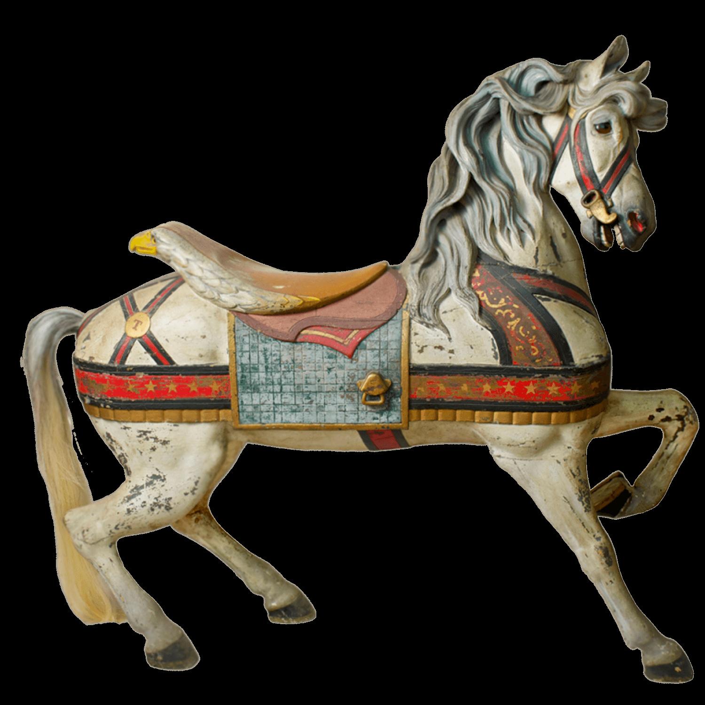 Antique Carousel Horse transparent PNG.