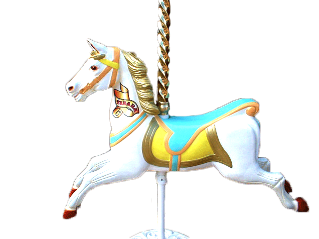 Download Free png Carousel Horse with Pole and.