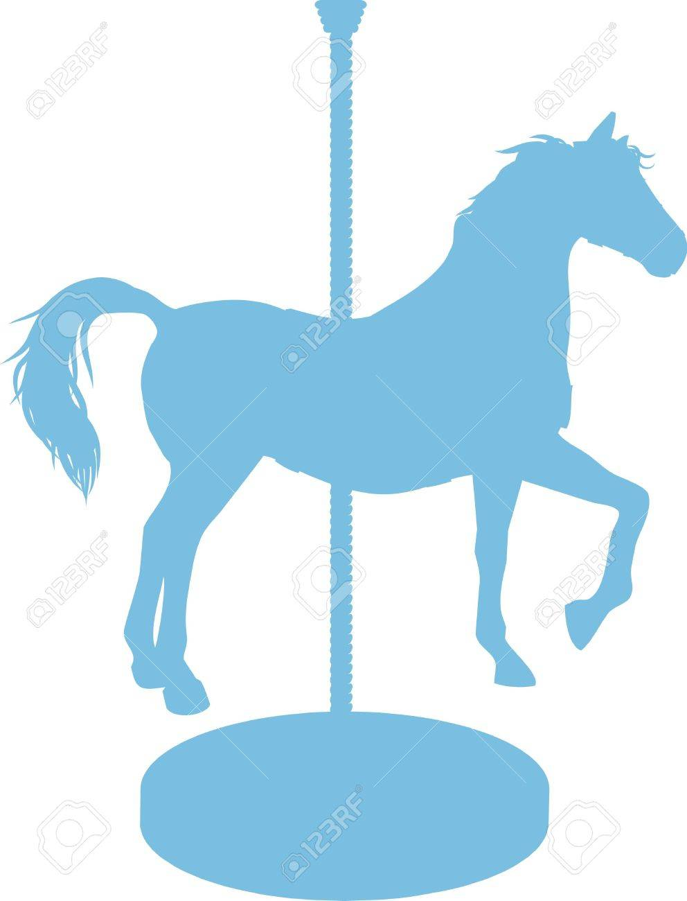 Carousel Horse is a silhouette of a carousel horse..
