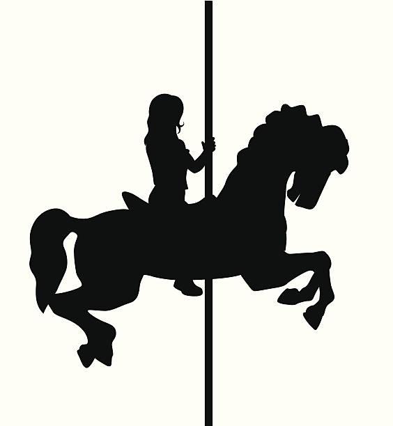 Best Carousel Horse Illustrations, Royalty.