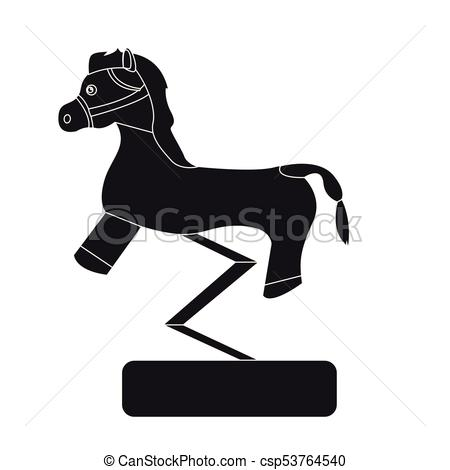 Carousel horse silhouette.