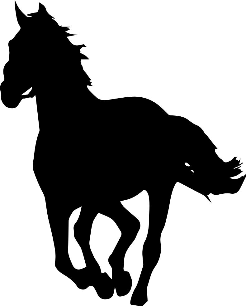 Horse Silhouette Stallion Clip art.
