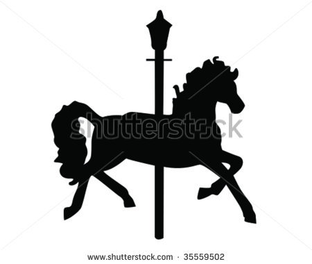 carousel horse template or graphic design.