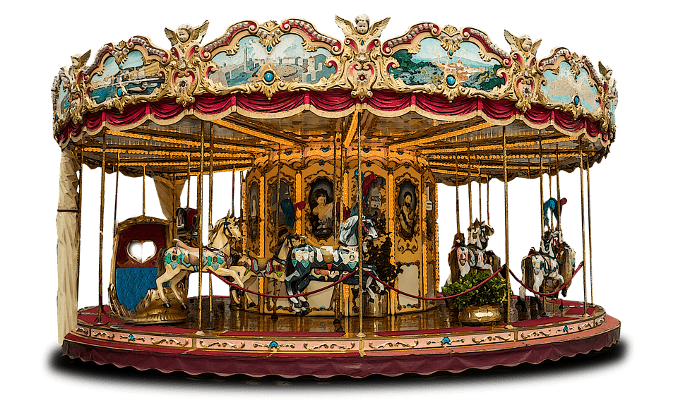 Carousel Merry Go Round transparent PNG.