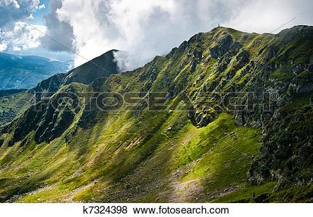 Stock Illustration of Carpathian mountains on the border of.
