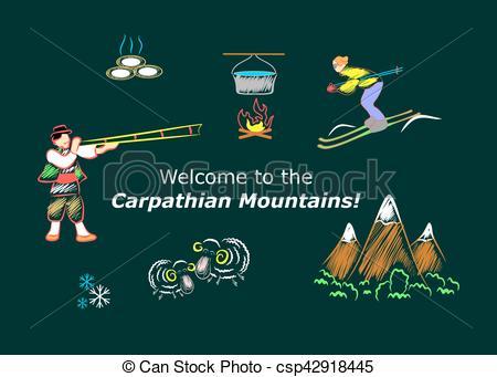 EPS Vector of the Carpathian Mountains.