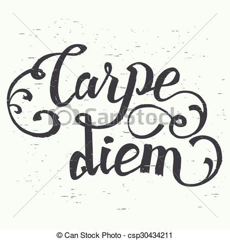 Vector Clip Art of Carpe diem hand.