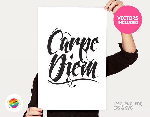 Printable Carpe Diem vector clipart personal & by ColorPlanet.