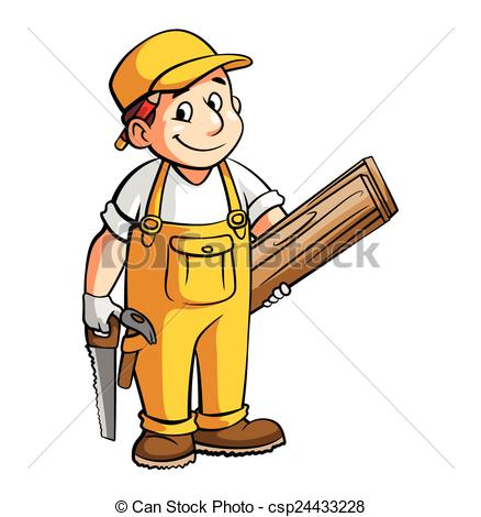 Cartoon carpenter clipart.