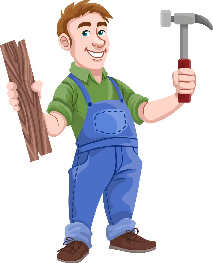 Cartoon carpenter clipart.