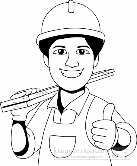 Black White Carpenter Clipart » Clipart Station.