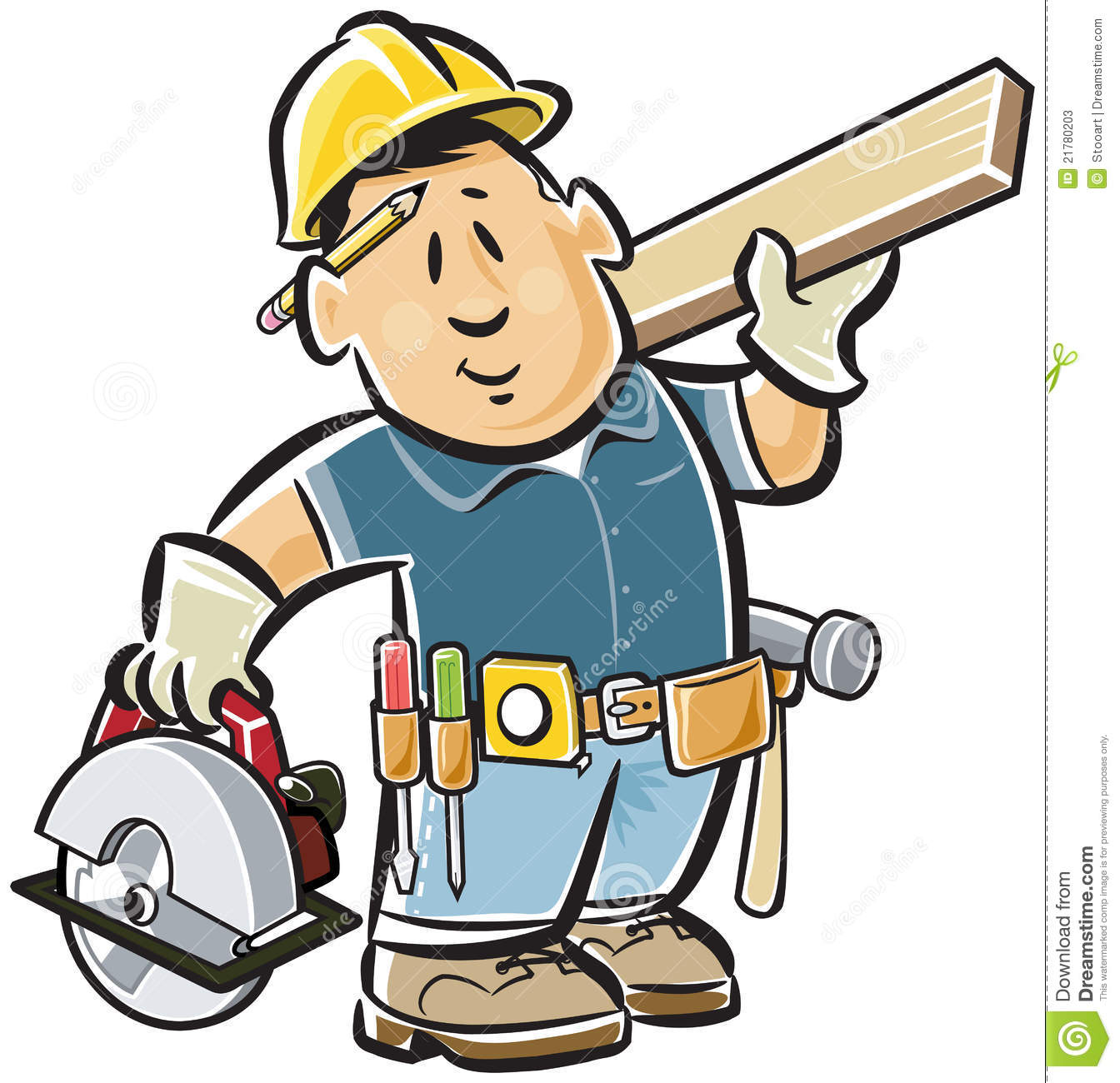 Carpentry Power Tools Clipart.