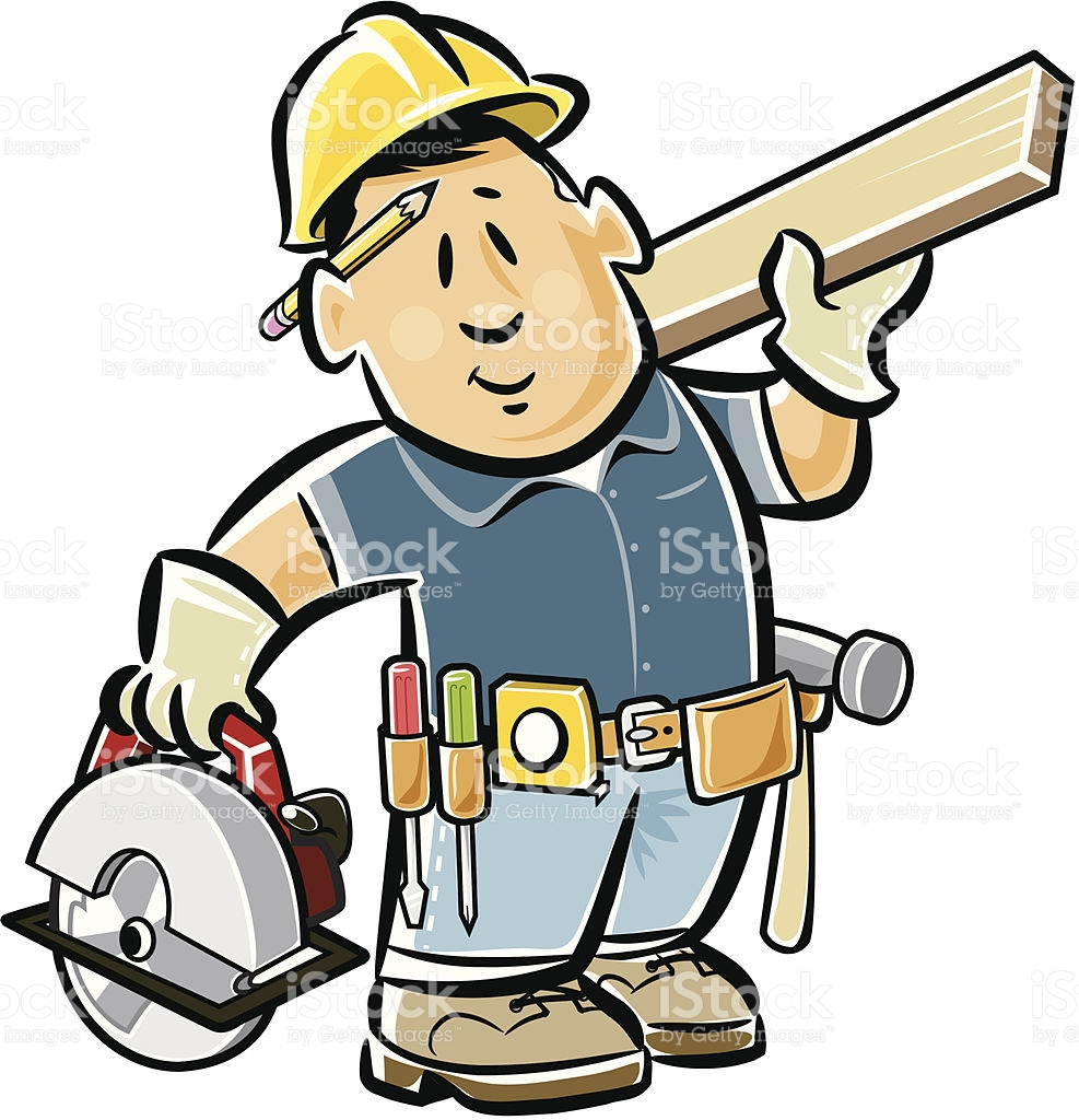 Carpenter stock vector art 163860804.