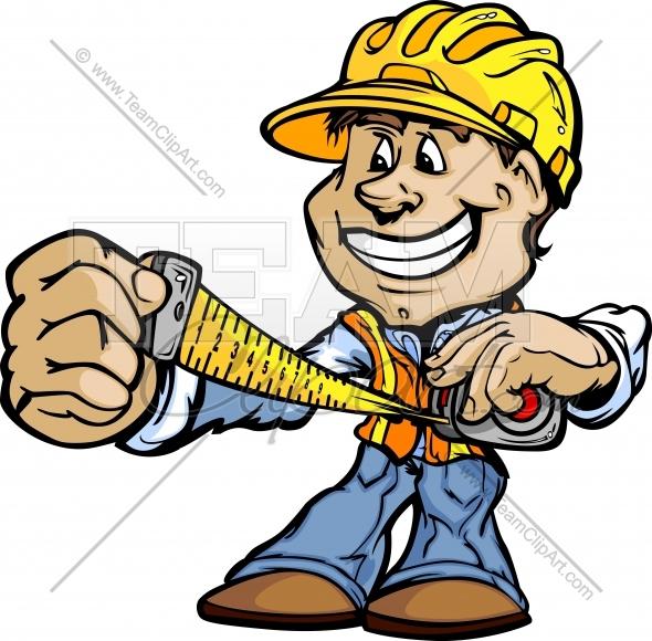 Carpenter Clipart Cartoon Image. Easy to Edit Vector Format..