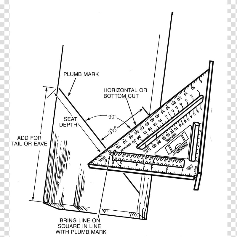 Speed square Tool Rafter Carpenter, Angle transparent.
