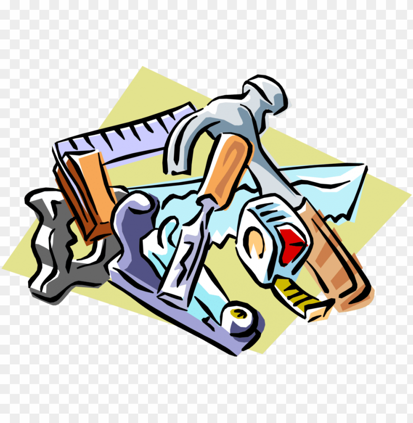 vector illustration of carpentry and woodworking tools.