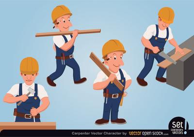 Carpenter Clip Art, Vector Carpenter.