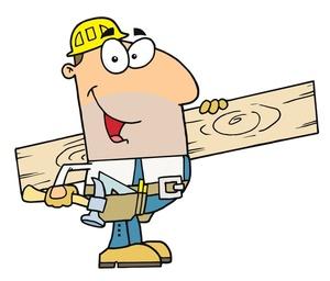 Comic Clip Art Carpenters.